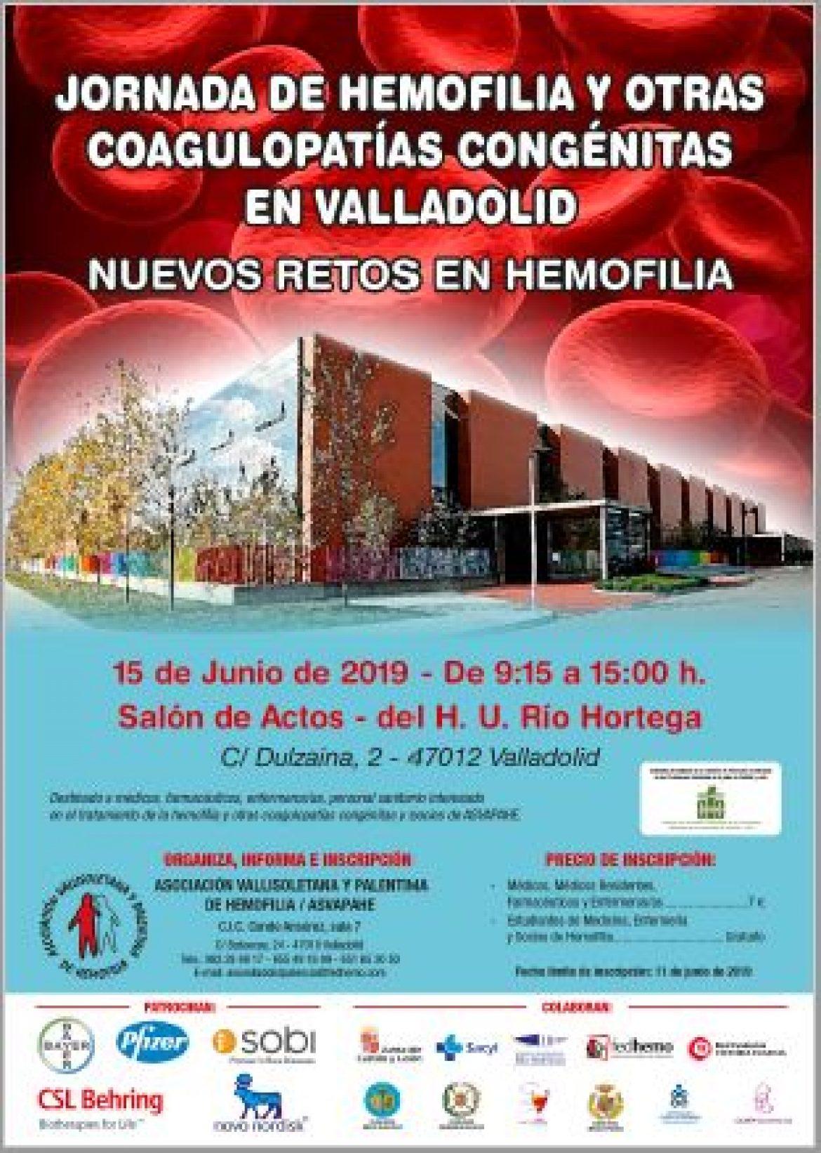 JORNADA DE HEMOFILIA Y OTRAS COAGULOPATÍAS CONGÉNITAS EN VALLADOLID